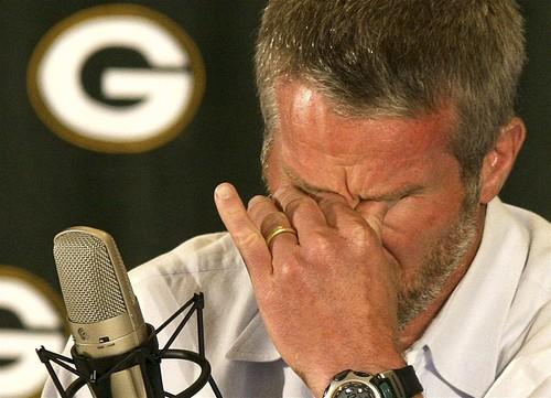 Most Embarrassing Pro-Athlete Phallic Fumbles Brett Favre