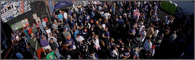 purple patio NFL Baltimore Ravens