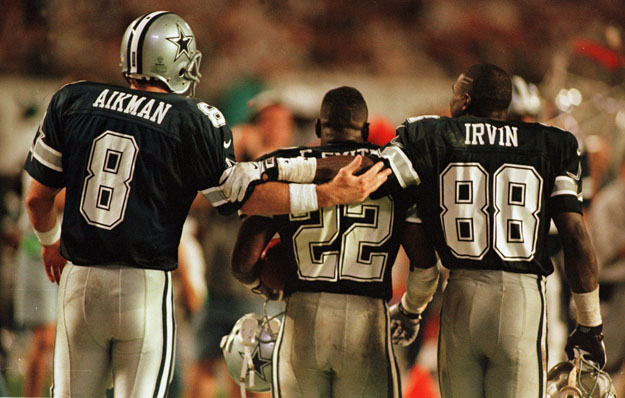 Image result for troy aikman emmitt smith michael irvin photos