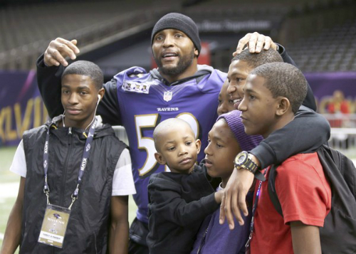 Ray Lewis, Baltimore Ravens, Kids