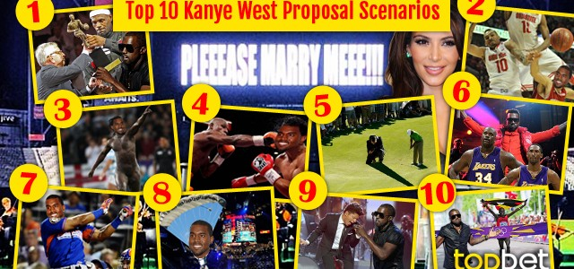 10 Kanye West Sports Interuption Proposal Scenarios