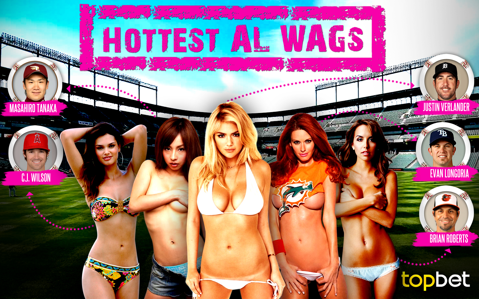 The Hottest Wives and Girlfriends of American League players, courtesy of Top Bet sportsbook.