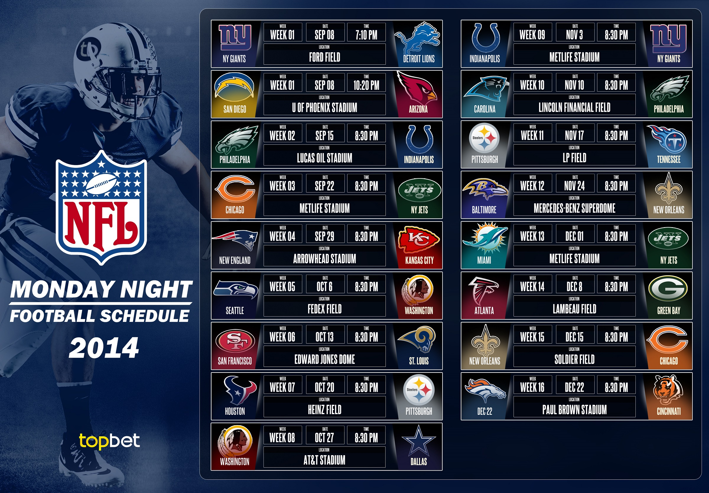 It is a picture of Slobbery Printable Nfl Team Schedules