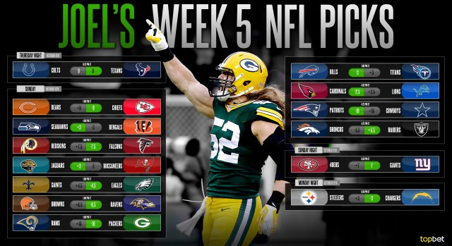 Pro football week 5 predictions