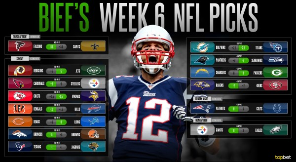 do you bet nfl schedule week 6