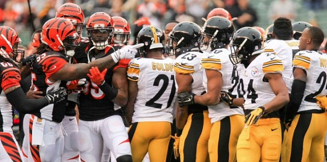 football locks nfl steelers vs bengals fight