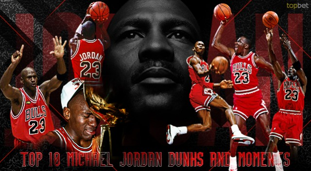 reputable site 9dbbe 0266a Top 10 Michael Jordan Dunks and Moments