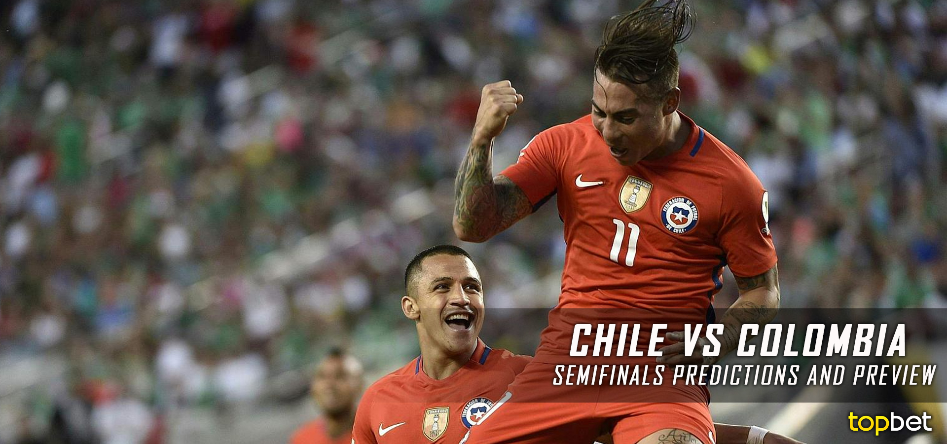 Chile vs Colombia 2016 Copa America Semifinals Predictions
