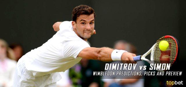 Grigor Dimitrov vs. Gilles Simon Predictions, Odds, Picks and Tennis Betting Preview – 2016 Wimbledon Second Round