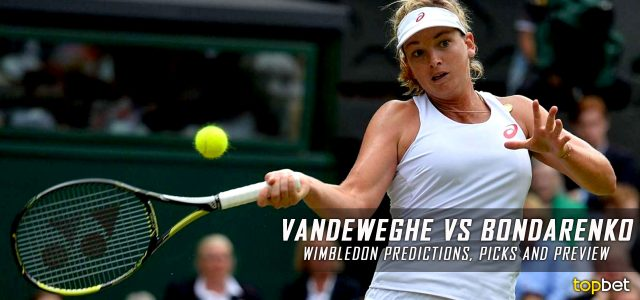 Coco Vandeweghe vs. Kateryna Bondarenko Predictions, Odds, Picks and Tennis Betting Preview – 2016 Wimbledon First Round