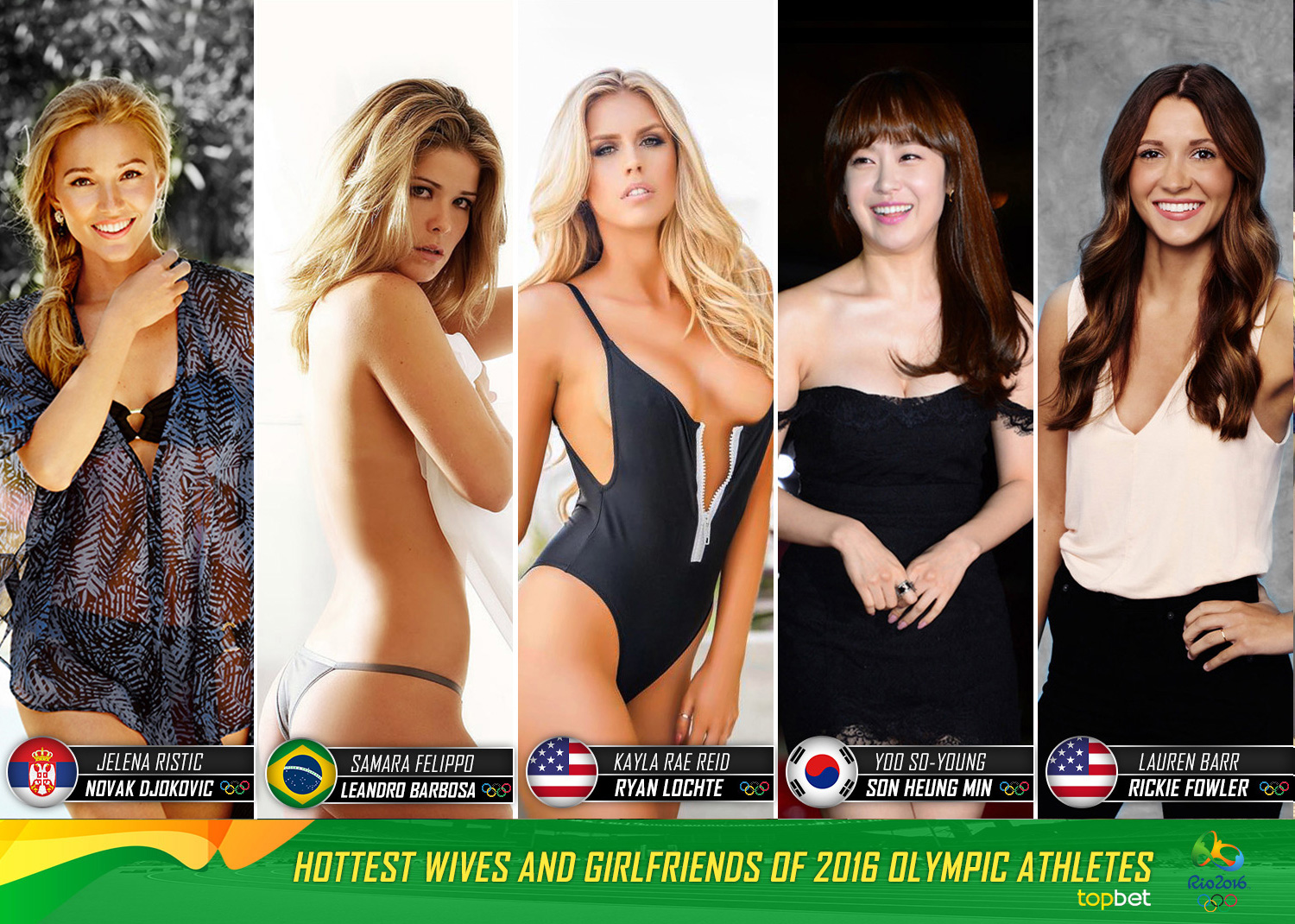 hottest olympic athlete wives / girlfriends - olympian wags
