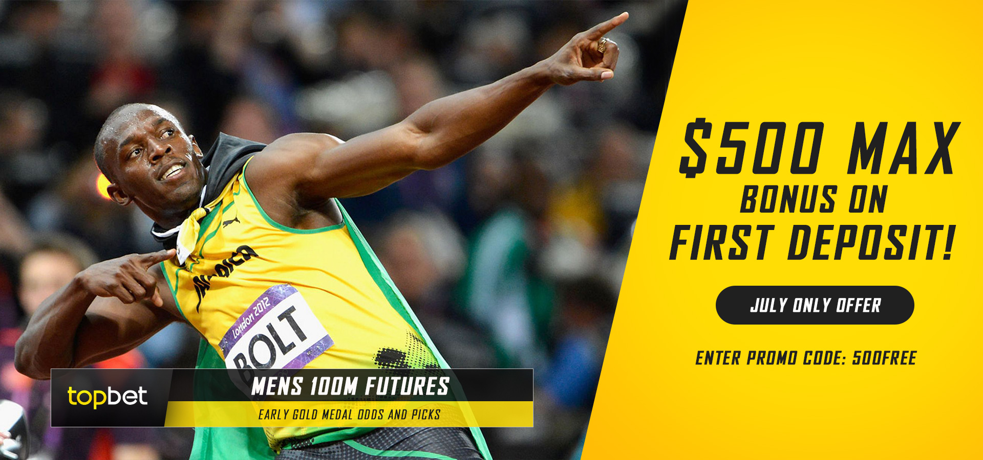 Men's 100m Summer Olympic Gold Medal Final - Early Odds