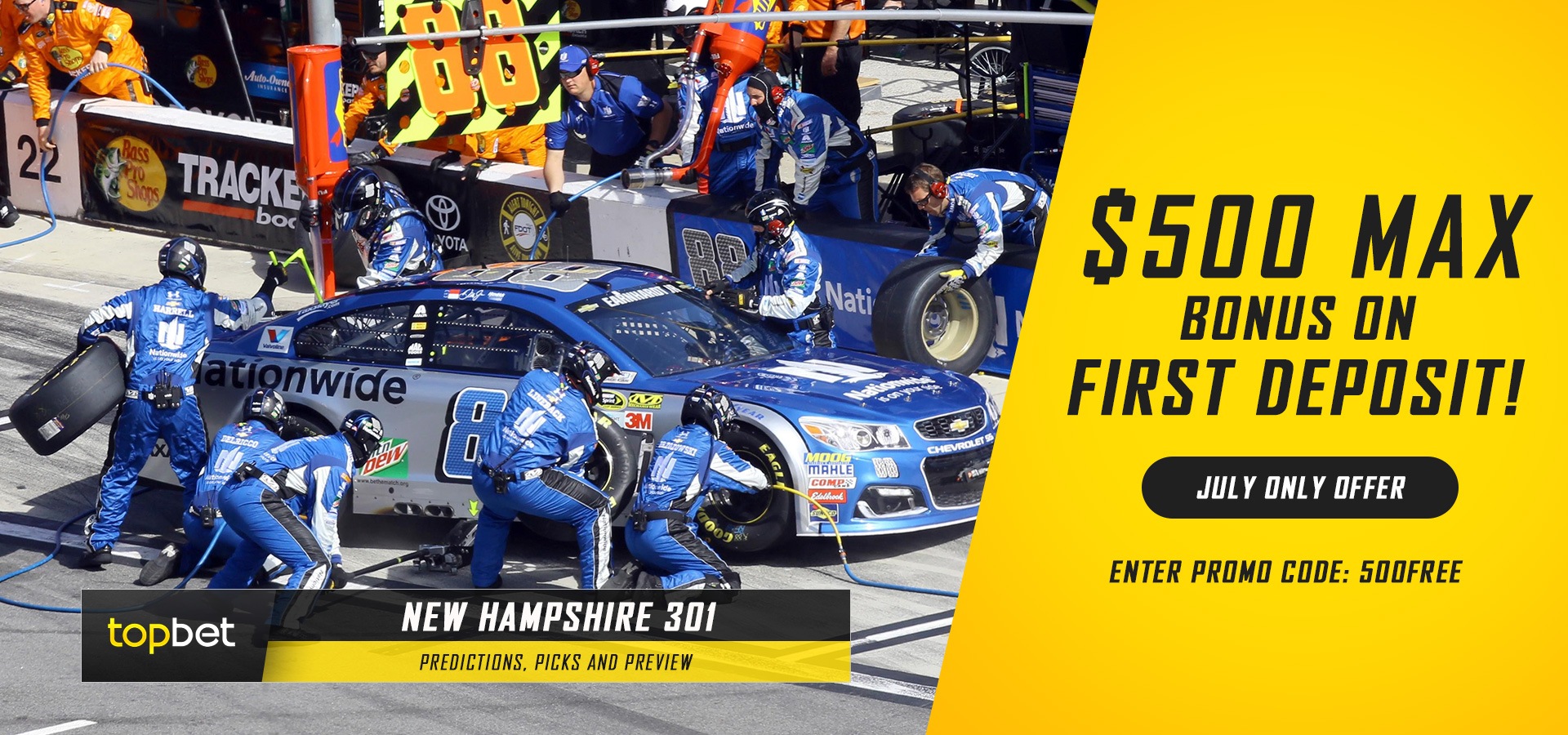 What are the Las Vegas odds for the NASCAR race at New Hampshire?