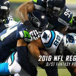 2016 NFL Regular Season D/ST Fantasy Points Projections