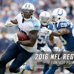 2016 NFL Regular Season TE Fantasy Points Projections