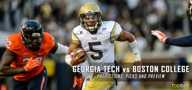 Georgia Tech Yellow Jackets vs. Boston College Eagles Predictions, Picks, Odds, and NCAA Football Week One Betting Preview – September 3, 2016