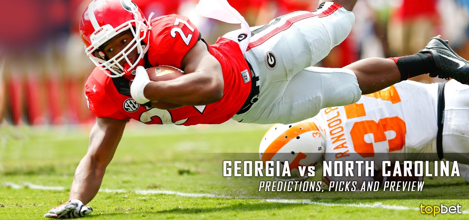 Georgia Vs North Carolina Football Predictions, Picks & Odds