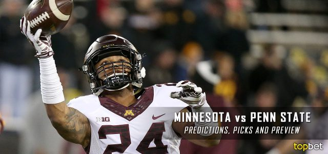Minnesota Golden Gophers vs. Penn State Nittany Lions Predictions, Picks, Odds, and NCAA Football Week Five Betting Preview – October 1, 2016