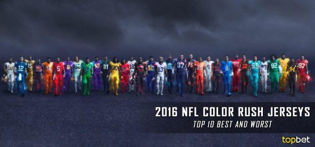 Top Ten 2016 NFL Color Rush Jerseys Ranked