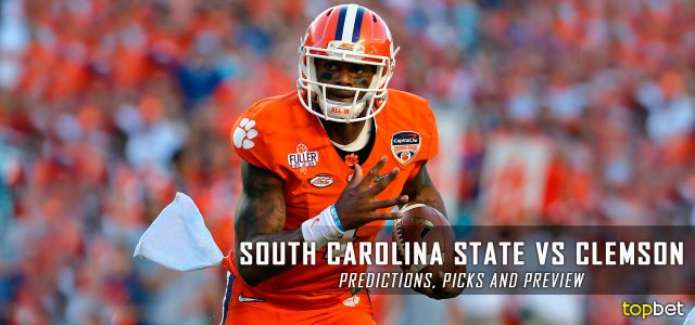South Carolina State Bulldogs vs. Clemson Tigers Predictions, Picks, Odds, and NCAA Football Week Three Betting Preview – September 17, 2016