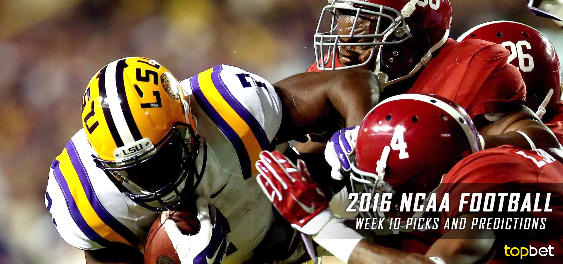 College Football Week 10 Predictions and Picks 2016-17