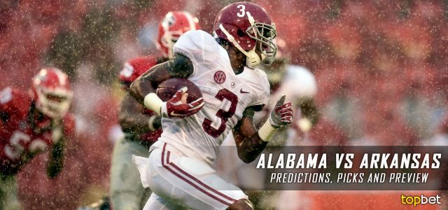 Alabama Crimson Tide vs. Arkansas Razorbacks Predictions, Picks, Odds, and NCAA Football Week Six Betting Preview – October 8, 2016