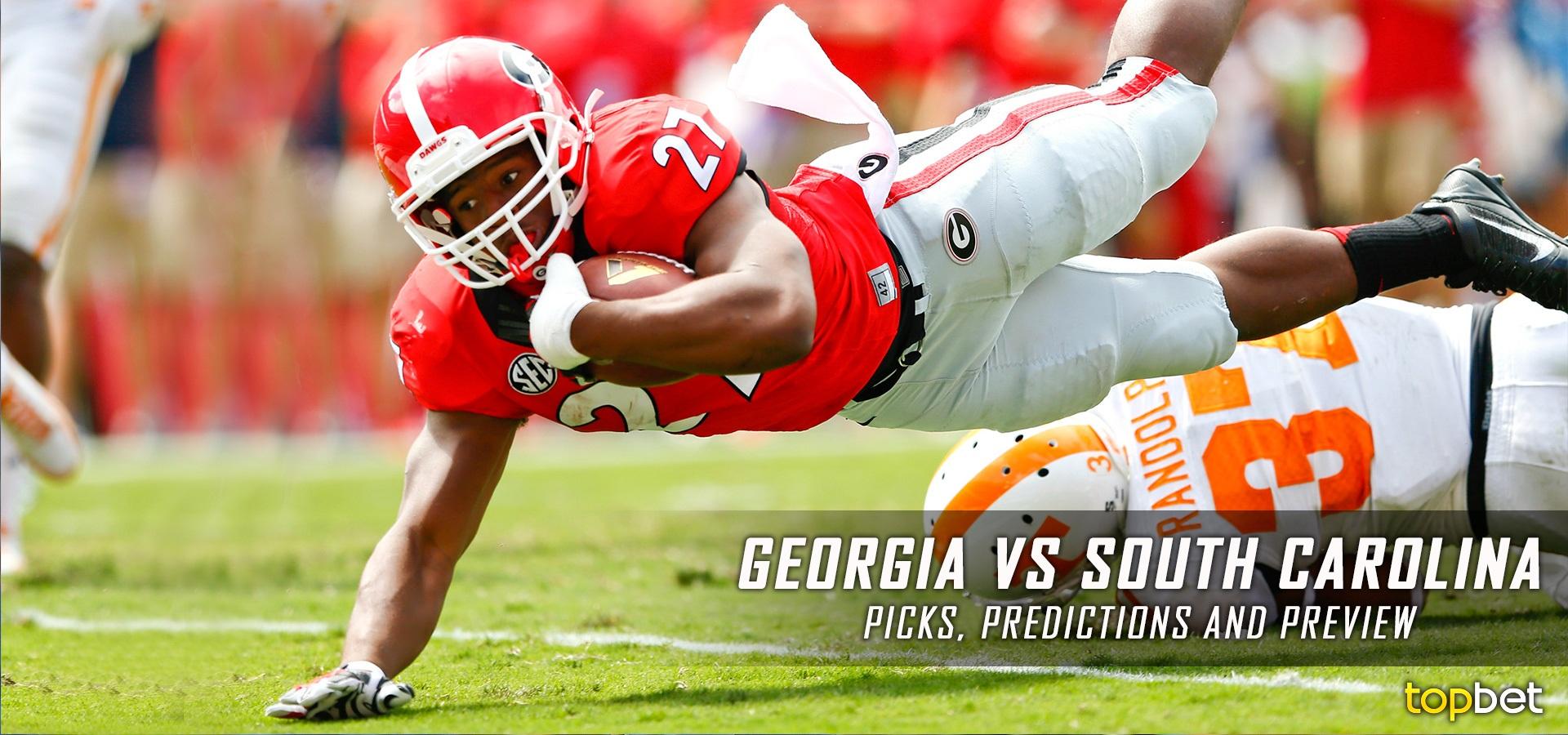 Georgia vs South Carolina Football Predictions, Picks and Odds