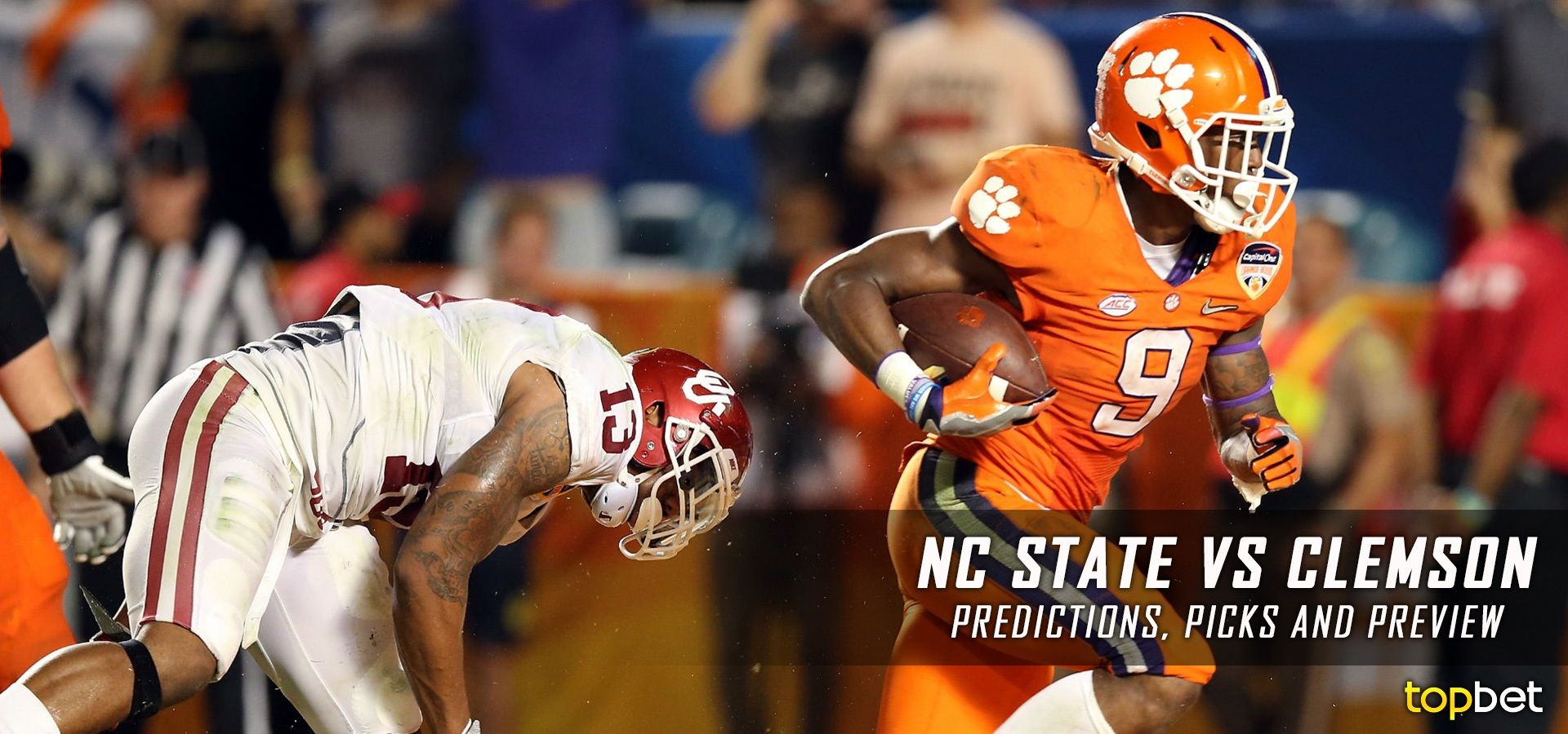 clemson vs nc state spread college footvall