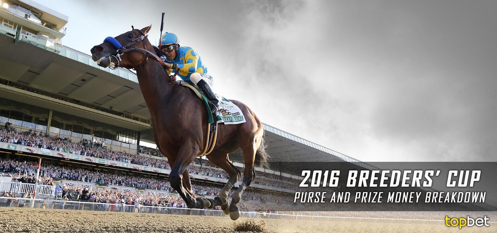 2016 Breeders Cup Purse Prize Money Breakdown