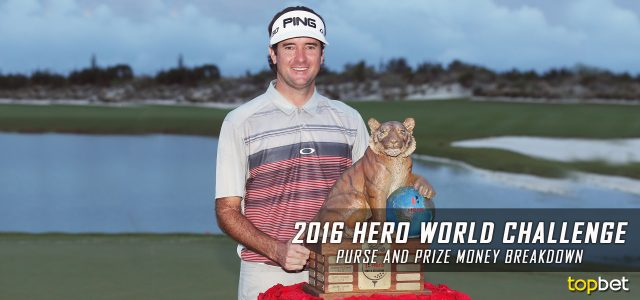 2016 Hero World Challenge Purse and Prize Money Breakdown