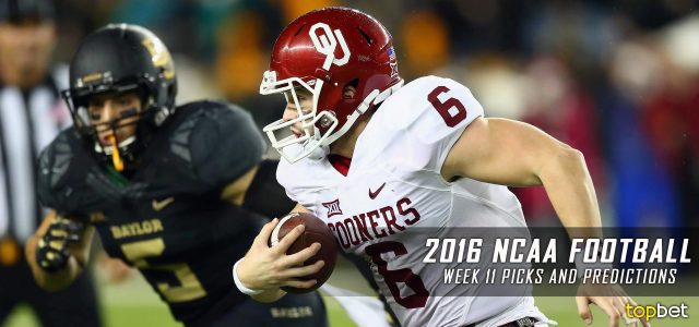 2016 NCAA Football Week 11 Predictions, Picks and Preview
