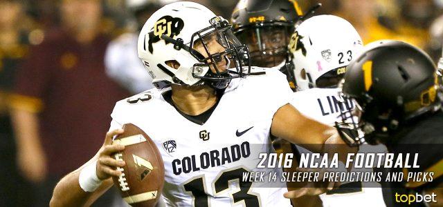 2016 NCAA College Football Week 14 Sleeper Picks and Predictions