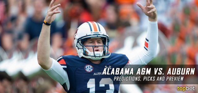 Alabama A&M Bulldogs vs. Auburn Tigers Predictions, Picks, Odds, and NCAA Football Week 12 Betting Preview – November 19, 2016