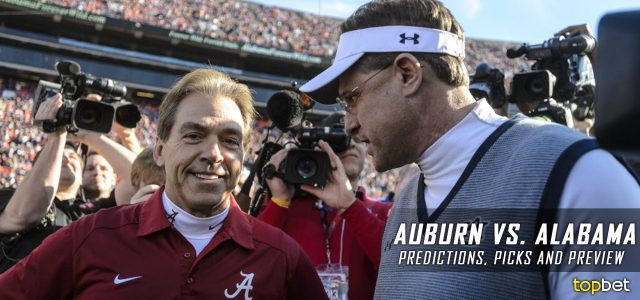 Auburn Tigers vs. Alabama Crimson Tide Predictions, Picks, Odds, and NCAA Football Week 13 Betting Preview – November 26, 2016