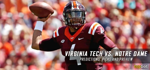 Virginia Tech Hokies vs. Notre Dame Fighting Irish Predictions, Picks, Odds, and NCAA Football Week 12 Betting Preview – November 19, 2016