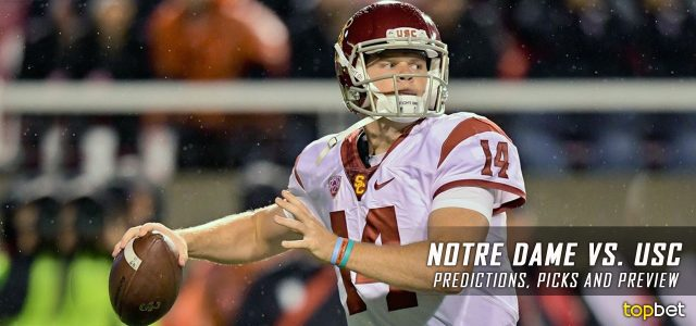 Notre Dame Fighting Irish vs. USC Trojans Predictions, Picks, Odds, and NCAA Football Week 13 Betting Preview – November 26, 2016