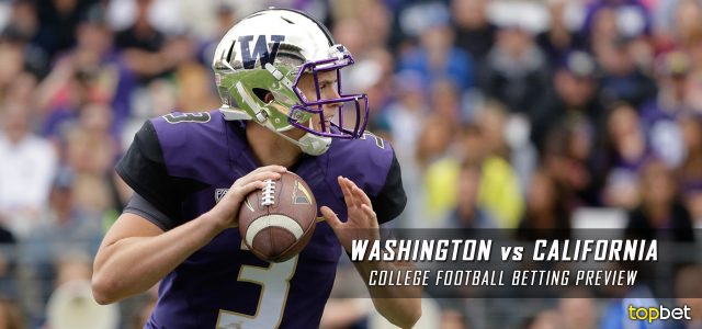Washington Huskies vs California Golden Bears Predictions, Picks, Odds, and NCAA Football Week 10 Betting Preview – November 5, 2016