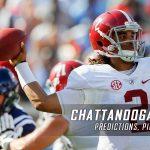 Chattanooga Mocs vs. Alabama Crimson Tide Predictions, Picks, Odds, and NCAA Football Week 12 Betting Preview – November 19, 2016