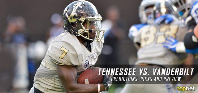 Tennessee Volunteers vs. Vanderbilt Commodores Predictions, Picks, Odds, and NCAA Football Week 13 Betting Preview – November 26, 2016