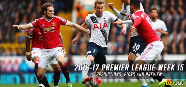 2016-17 Premier League Week 15 Predictions, Picks and Preview