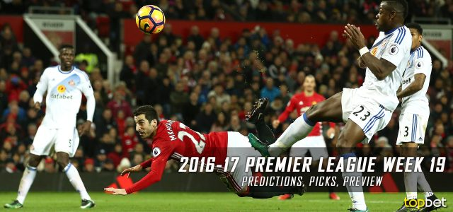 2016-17 Premier League Week 19 Predictions, Picks and Preview