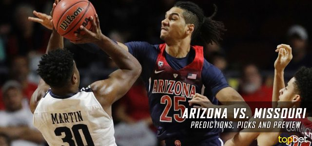 Arizona Wildcats vs. Missouri Tigers Predictions, Picks, Odds and NCAA Basketball Betting Preview – December 10, 2016