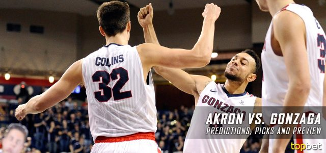 Akron Zips vs. Gonzaga Bulldogs Predictions, Picks, Odds and NCAA Basketball Betting Preview – December 10, 2016