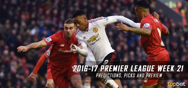 2016-17 Premier League Week 21 Predictions, Picks and Preview