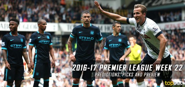 2016-17 Premier League Week 22 Predictions, Picks and Preview