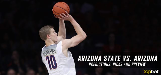 Arizona State Sun Devils vs. Arizona Wildcats Predictions, Picks, Odds and NCAA Basketball Betting Preview – January 12, 2017