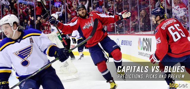 Washington Capitals vs. St. Louis Blues Predictions, Picks and NHL Preview – January 19, 2017