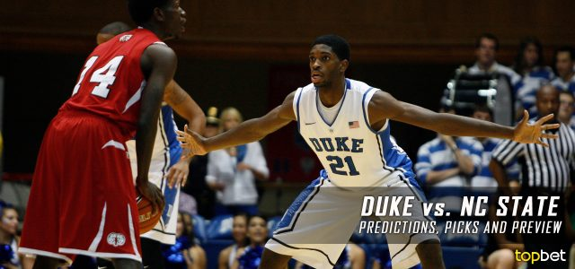 NC State Wolfpack vs. Duke Blue Devils Predictions, Picks, Odds and NCAA Basketball Betting Preview – January 23, 2017