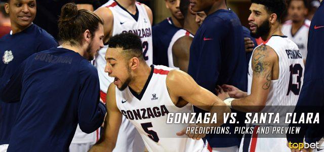 Gonzaga Bulldogs vs. Santa Clara Broncos Predictions, Picks, Odds and NCAA Basketball Betting Preview – January 19, 2017