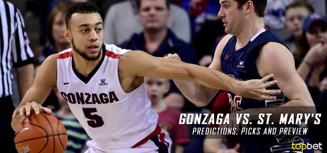 Gonzaga Bulldogs vs. Saint Mary's Gaels Predictions, Picks, Odds and NCAA Basketball Betting Preview – February 11, 2017